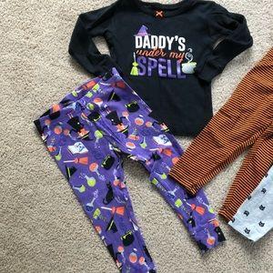 Carter's Pajamas - 18 month Halloween pajamas and leggings